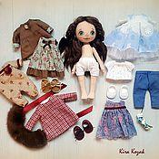 Куклы и игрушки ручной работы. Ярмарка Мастеров - ручная работа Кукла с набором одежды №11. Handmade.