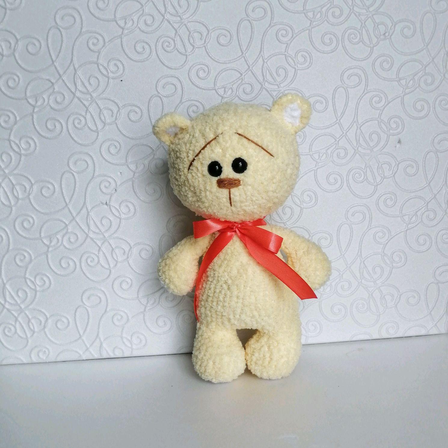 Медвежонок Вязаный миша, Мягкие игрушки, Щучье,  Фото №1