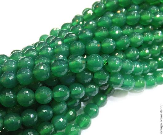Для украшений ручной работы. Ярмарка Мастеров - ручная работа. Купить Хризопраз граненый /шарик, 6 мм/. Handmade. Зеленый