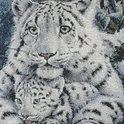 Картины и панно ручной работы. Ярмарка Мастеров - ручная работа Леопард и детёныш. Handmade.
