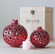 Для дома и интерьера handmade. Livemaster - original item Large ceramic pomegranate night light. Handmade.