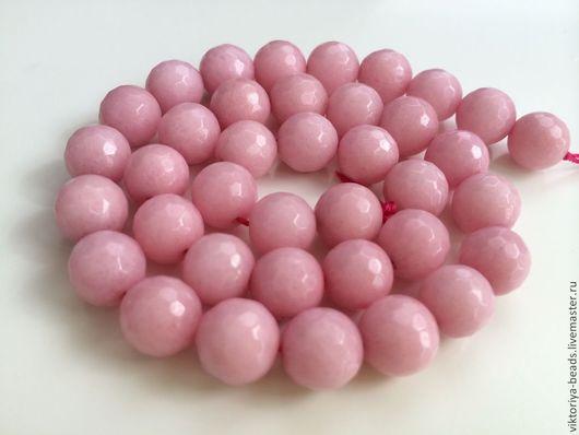 Для украшений ручной работы. Ярмарка Мастеров - ручная работа. Купить Агат розовый бусины 10 мм огранка. Handmade.