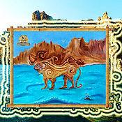 Фен-шуй и эзотерика ручной работы. Ярмарка Мастеров - ручная работа Скифский лев Крым картина маслом. Handmade.