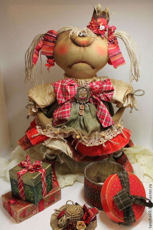 Коллекционные куклы ручной работы. Ярмарка Мастеров - ручная работа. Купить А хде сабачка?.... Handmade. Примитив, ткань