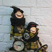 Куклы и игрушки ручной работы. Ярмарка Мастеров - ручная работа Желтые в клетку. Handmade.