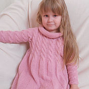 Работы для детей, handmade. Livemaster - original item Knitted dress for girls. Handmade.