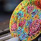 Тарелки ручной работы. Август. Перфект•studio роспись/декор. Интернет-магазин Ярмарка Мастеров. Тарелка, тарелка на стену, подарок женщине