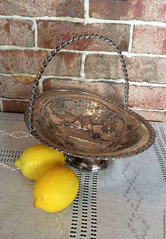 Винтажная посуда. Ярмарка Мастеров - ручная работа. Купить Ваза для фруктов 19век серебрение Англия. Handmade. Серебряный, сервировка стола