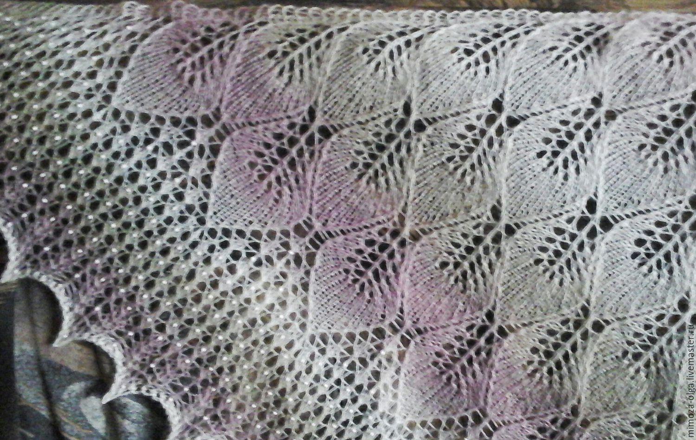 Схема шали замерзающие листья фото 142