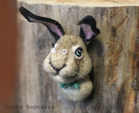 Игрушки животные, ручной работы. Ярмарка Мастеров - ручная работа. Купить Заяц (animal sculpture). Handmade. Серый, шерстяная скульптура