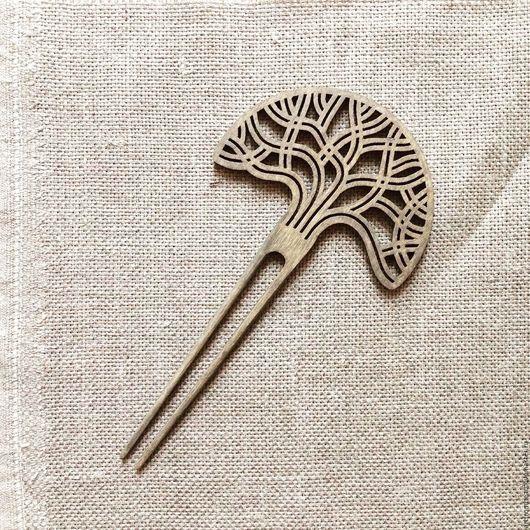 """Заколки ручной работы. Ярмарка Мастеров - ручная работа. Купить Шпилька для волос """"ДУБ"""". Handmade. Деревянная заколка, дуб"""