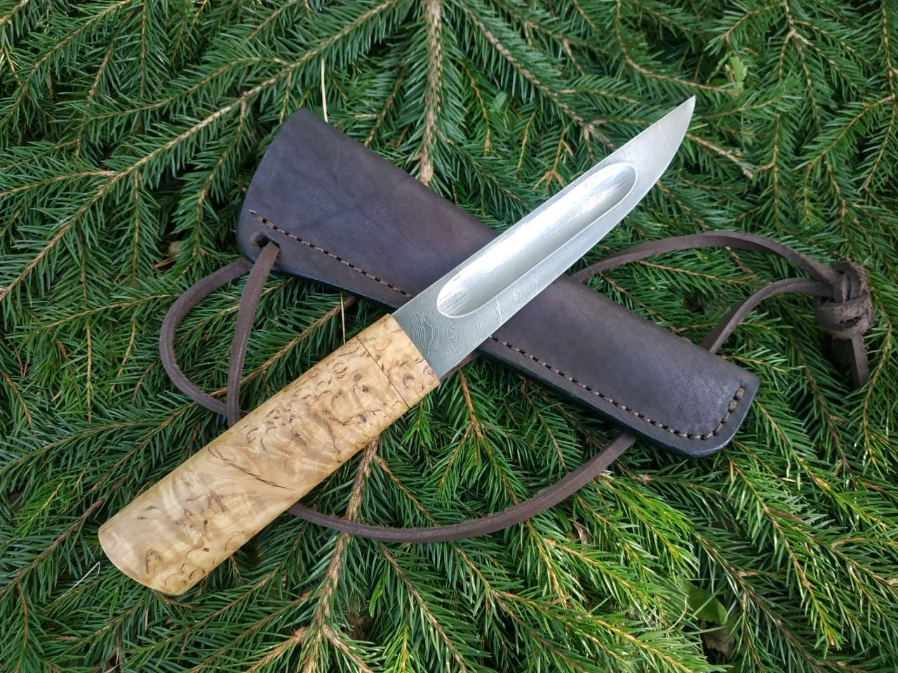 Якутский нож  из дамасской стали, Ножи, Павлово,  Фото №1
