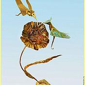 Для дома и интерьера ручной работы. Ярмарка Мастеров - ручная работа Колибри на цветке. Handmade.