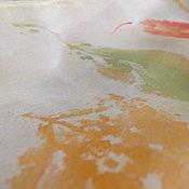 Аксессуары ручной работы. Ярмарка Мастеров - ручная работа Шарф батик осень. Handmade.