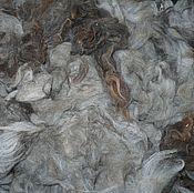 Материалы для творчества ручной работы. Ярмарка Мастеров - ручная работа Шерсть Альпаки серо-коричневая, остаток 270 грамм. Handmade.