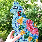 """Для дома и интерьера ручной работы. Ярмарка Мастеров - ручная работа Ключница """"Целительная кошка"""". Handmade."""