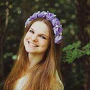 """Украшения handmade. Livemaster - original item Нежный ободок на голову с  сиреневыми розами """"Прованс"""". Handmade."""