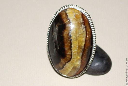 Кольца ручной работы. Ярмарка Мастеров - ручная работа. Купить кольцо с симбирцитом.. Handmade. Комбинированный, украшение
