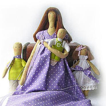Куклы и игрушки ручной работы. Ярмарка Мастеров - ручная работа Портретные куклы - Семейство. Handmade.