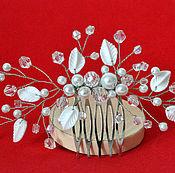 Свадебный салон handmade. Livemaster - original item Wedding comb for bride. Wedding hair jewelry. Handmade.