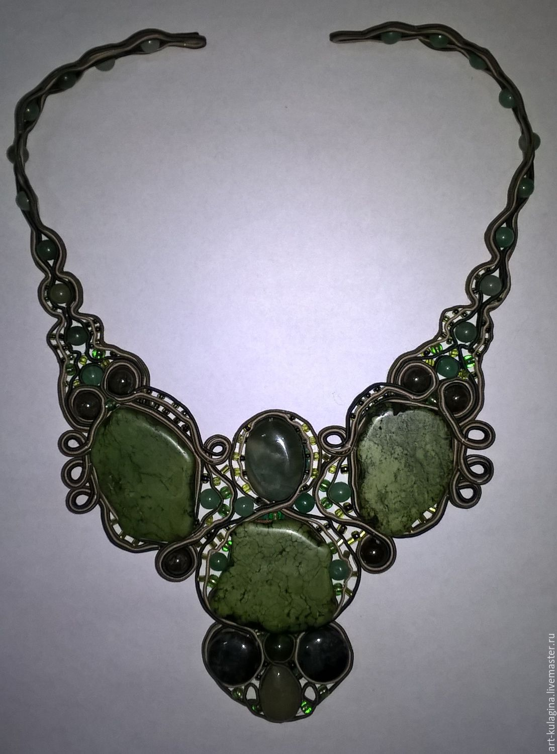 Necklace 'emerald luxury', Necklace, Moscow,  Фото №1