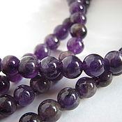 Материалы для творчества handmade. Livemaster - original item Amethyst beads smooth ball 6mm. Beads of amethyst.. Handmade.