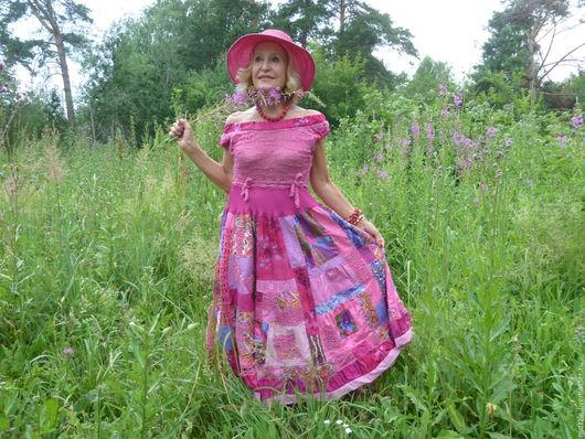 """Платья ручной работы. Ярмарка Мастеров - ручная работа. Купить """"Иван-чай"""",  платье,. Handmade. Фуксия, хлопок 100%"""