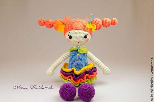 Человечки ручной работы. Ярмарка Мастеров - ручная работа. Купить Кукла Апельсинка. Handmade. Оранжевый, кукла вязаная, игрушка мягкая