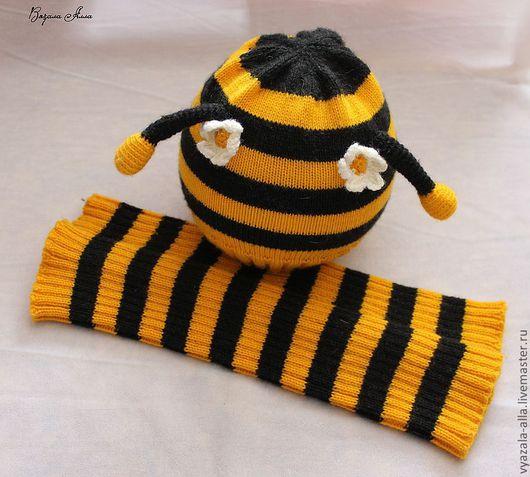 """Одежда унисекс ручной работы. Ярмарка Мастеров - ручная работа. Купить Комплект: шапочка и слингогетры """"Пчелка"""". Handmade. Слингогетры"""