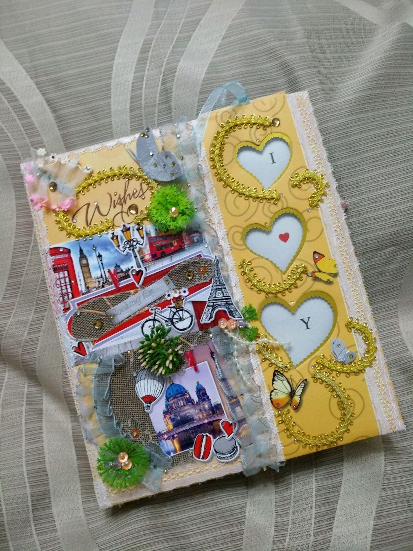 """Фотоальбом - блокнот для памятных моментов """"Wishes"""", Фотоальбомы, Мытищи,  Фото №1"""
