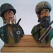 """Подарки к праздникам handmade. Livemaster - original item """"Солдаты/Союзники"""" - набор пробок для бутылок, на подставке.. Handmade."""