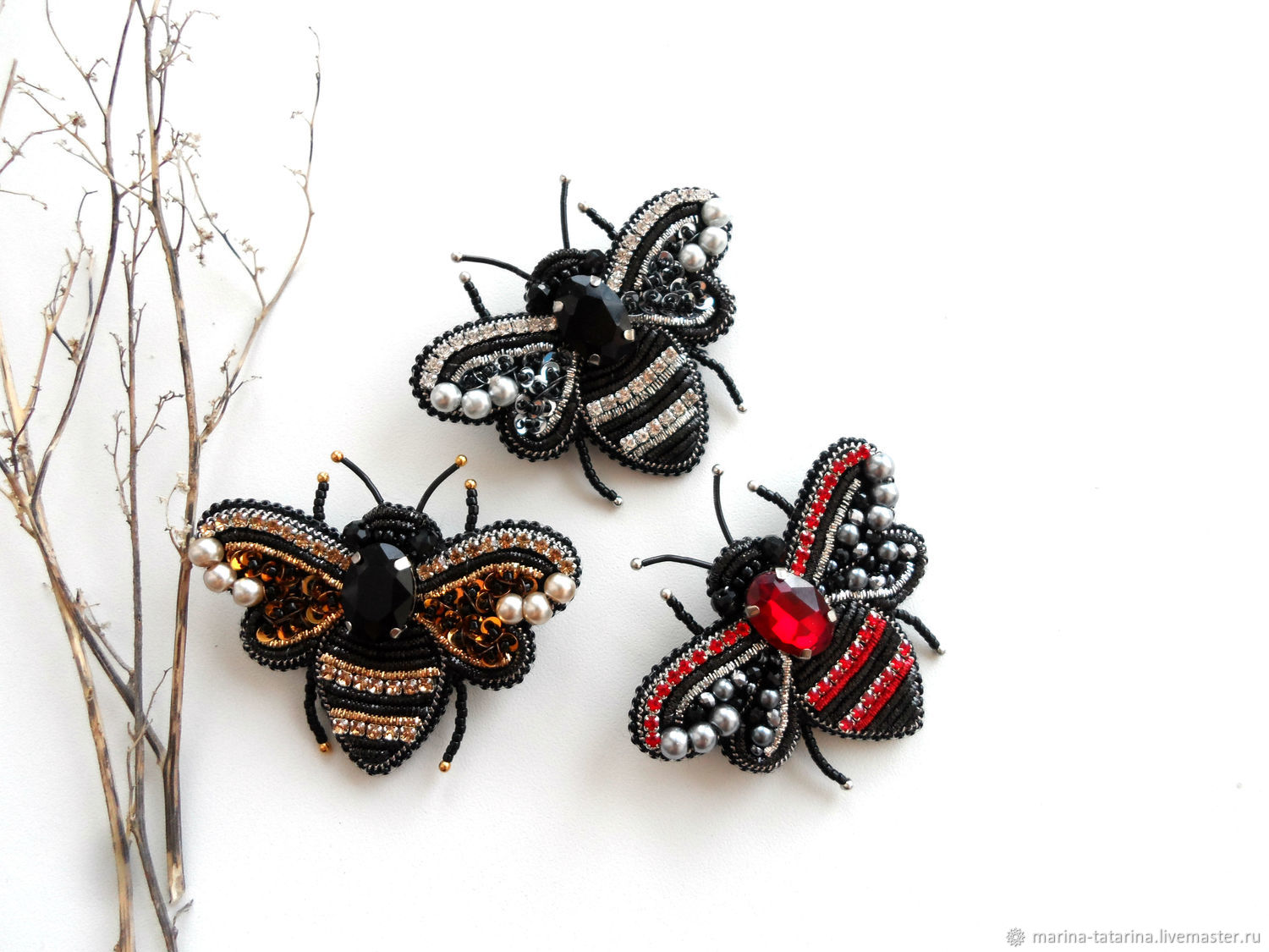 'Little bees ' brooches, Brooches, Eniseisk,  Фото №1