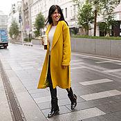 Одежда ручной работы. Ярмарка Мастеров - ручная работа Тёплое осеннее пальто горчичного цвета. Handmade.