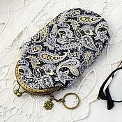 Сумки и аксессуары handmade. Livemaster - original item Eyeglass case with clasp, Silver Paisley, Gift for the New Year. Handmade.