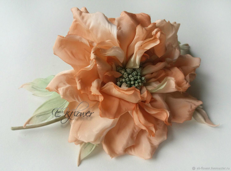 Silk flowers rose silk brooch peach whim shop online on order silk flowers rose silk brooch peach whim mightylinksfo