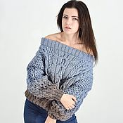Одежда handmade. Livemaster - original item Knitted sweater, handmade in the style of Ruban color snow tree. Handmade.