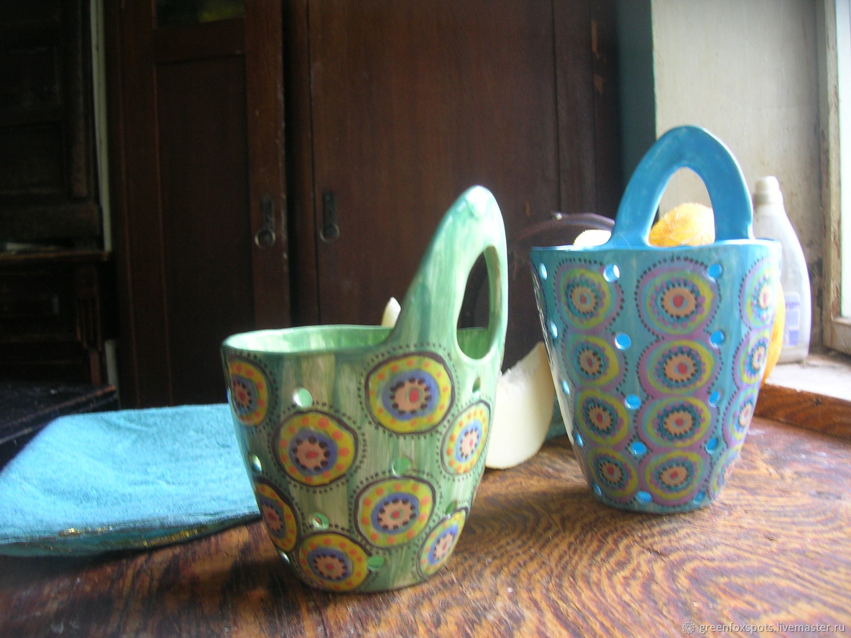 "Бокалы, стаканы ручной работы. Ярмарка Мастеров - ручная работа. Купить Berry Bowl ""Шахерезада"" синяя. Handmade. Синий, Шахерезада"