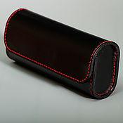 Сумки и аксессуары handmade. Livemaster - original item Eyeglass case made of genuine leather. Handmade.