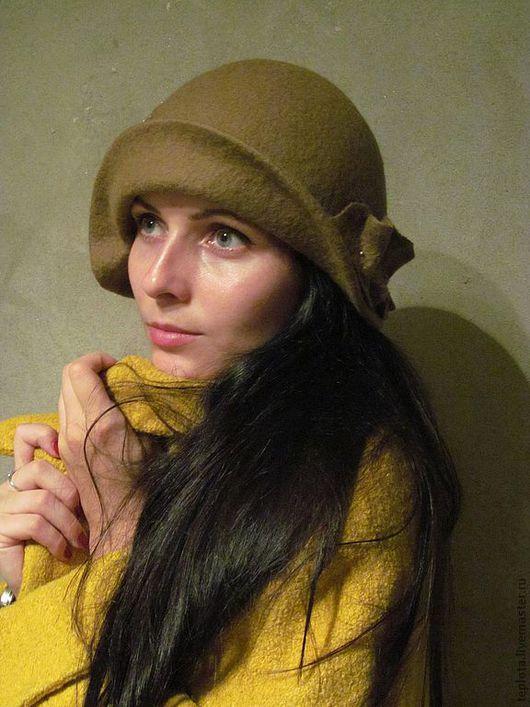"""Шляпы ручной работы. Ярмарка Мастеров - ручная работа. Купить шляпка валяная """"Горячие пески"""". Handmade. Шляпка, handmade"""