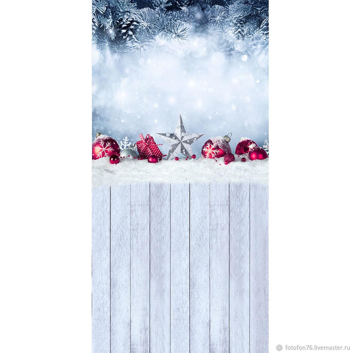 Фотофон Новогодние игрушки (пол/стена) 50х100 см, Фото, Ярославль,  Фото №1