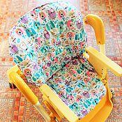 Для дома и интерьера ручной работы. Ярмарка Мастеров - ручная работа Чехол на стульчик для кормления. Handmade.