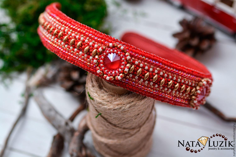 Rim `fair maiden` Swarovski crystals Japanese seed beads
