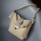 Сумки и аксессуары handmade. Livemaster - original item Bag leather Beige Mini. Handmade.