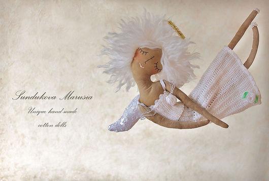 """Ароматизированные куклы ручной работы. Ярмарка Мастеров - ручная работа. Купить """"Ангел уютный"""" - авторская кофейная куколка. Handmade. Белый"""