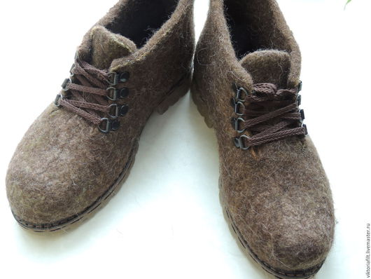 Обувь ручной работы. Ярмарка Мастеров - ручная работа. Купить Валяные ботинки женские. Handmade. Коричневый, валяные ботинки купить