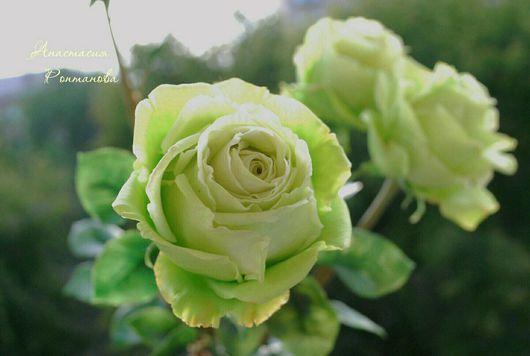 """Цветы ручной работы. Ярмарка Мастеров - ручная работа. Купить Розы """"лимбо"""". Handmade. Розы, керамическая флористика, полимерная глина"""