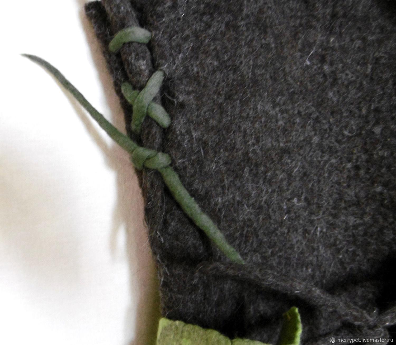 Валяная сумка «Перчатка»