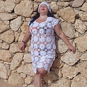 Одежда ручной работы. Ярмарка Мастеров - ручная работа Ажурное летнее платье. Handmade.