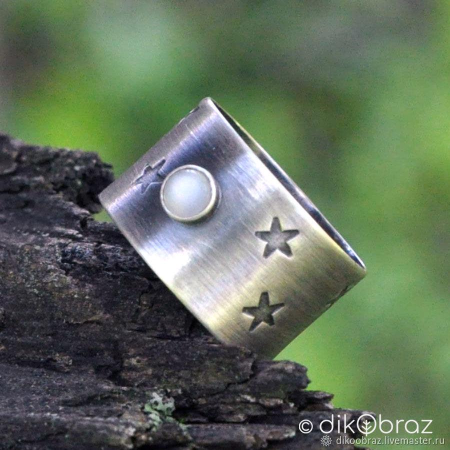Кольцо серебряное Сновидение, лунный камень, Кольца, Москва,  Фото №1