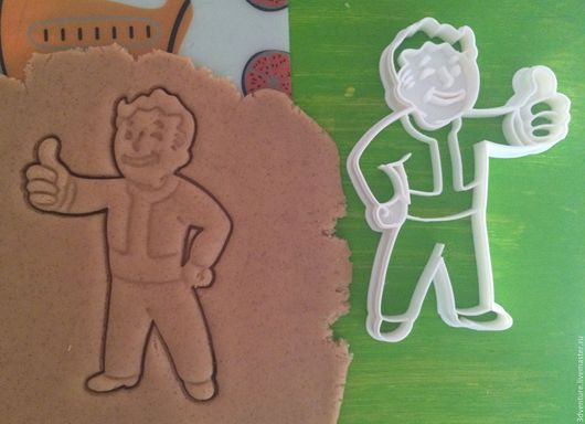 Кухня ручной работы. Ярмарка Мастеров - ручная работа. Купить Форма для печенья Волтбой Fallout. Handmade. Разноцветный, формочка для печенья